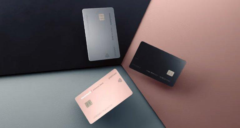 Карта Monobank Platinum в трех цветах