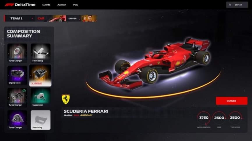 Интерфейс Delta Time от Formula 1