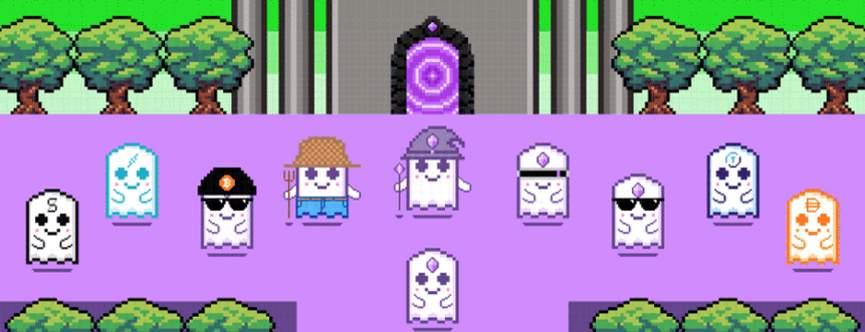 Пиксельные привидения Aavegotchi