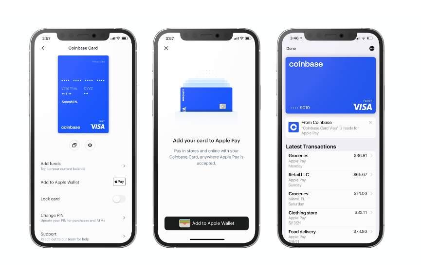 Coinbase начала сотрудничество с Apple и Google Pay
